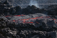 Lava roja imagen de archivo libre de regalías