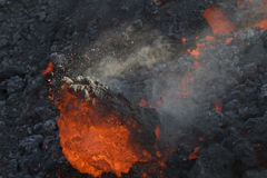 Lava rolling Royalty Free Stock Photography