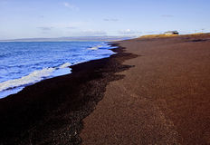 Lava Sand Beach noir, côte sud, Islande Images stock