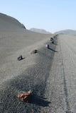 Lava sand line Stock Images