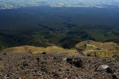 Lava scree on slopes of Mount Taranaki Royalty Free Stock Images