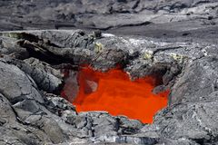Lava Skylight - Hawaii Volcanoes National Park Stock Photos