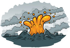 Lava Spurt. Cartoon lava spurts from the ground Stock Photos