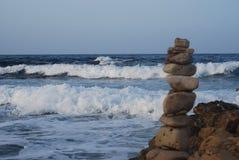 Lava, stenen en water Royalty-vrije Stock Foto
