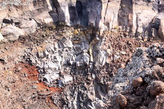 Lava stone in mount Vesuvius, Naples, Italy stock photo