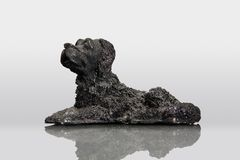Lava stone in the shape of dog. Silhouette of a dog made from a lava Stock Image