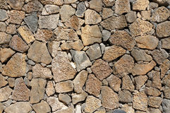 Lava Stone Wall Royalty Free Stock Images