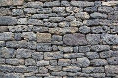Lava-stone wall Stock Photo