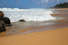 Lava stones on Sunset Beach - North Shore Stock Photos
