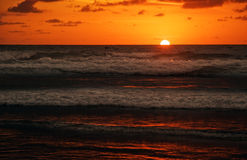Lava of sunset of Bali Stock Photo