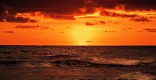Lava of sunset of Bali Stock Photography