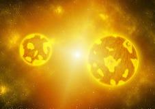 Lava Terrestrial Planets fundido ilustración del vector