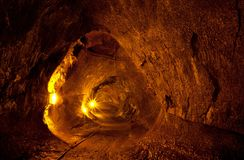 Lava tube Royalty Free Stock Image