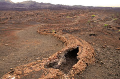 Lava tube - Ecuador. Sierra Negra crater in Galapagos Stock Images