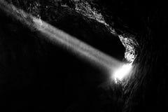 Lava Tube i nationell sylt för Mojave Royaltyfri Fotografi