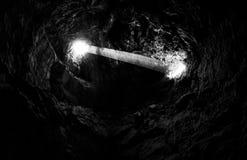 Lava Tube i nationell sylt för Mojave Royaltyfria Foton