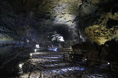 Lava tube on Jeju Island, Korea. UNESCO world heritage - Jeju Island Lava Tubes. South Korea Stock Photos