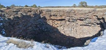 Lava tube sinkhole Stock Image