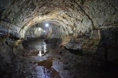 Lava Tunnel, islas de las Islas Galápagos, Ecuador fotos de archivo libres de regalías