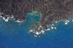lava vaggar shoreline Royaltyfria Foton