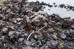 Lava van MT Sakurajim Stock Foto
