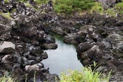 Lava van MT Sakurajim Stock Afbeeldingen