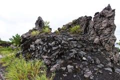 Lava van MT Sakurajim Royalty-vrije Stock Foto