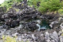 Lava van MT Sakurajim Stock Foto's