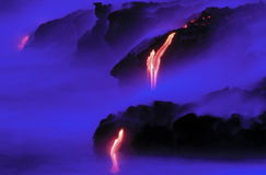 Lava van Vulkaan Kileauea. royalty-vrije stock afbeeldingen