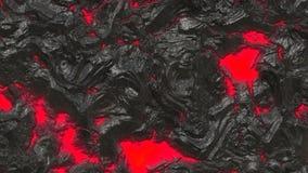 Lava vulcanica Fotografia Stock