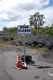 Lava warning sign Stock Photography