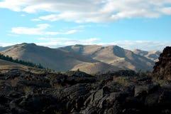 Lava y montañas Foto de archivo libre de regalías