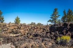 Lavabedden en het gebied van de lavastroom stock foto's