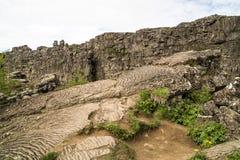 Lavabildande Island Royaltyfria Bilder