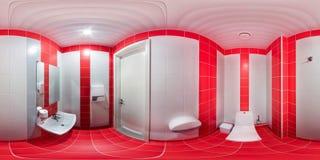 Lavabo con el retrete y el lavabo Imagen de archivo libre de regalías