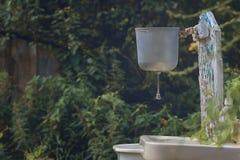 Lavabo dans le jardin image stock