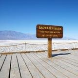 Lavabo de Badwater en Death Valley. Imagen de archivo
