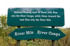 Lavabo de la divisoria de Rwanda Congo el Nilo Imagenes de archivo