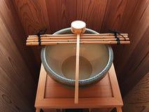 Lavabo de lavado a mano antiguo japonés del estilo Foto de archivo