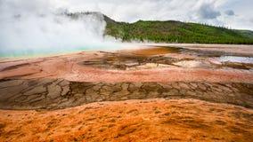 Lavabo del géiser, parque nacional de Yellowstone, Wyoming Imagen de archivo
