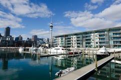 Lavabo del puerto del viaducto de Auckland Fotografía de archivo