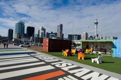 Lavabo del puerto del viaducto de Auckland Imágenes de archivo libres de regalías