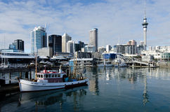 Lavabo del puerto del viaducto de Auckland Fotos de archivo libres de regalías