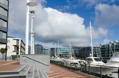 Lavabo del puerto del viaducto de Auckland Foto de archivo