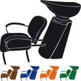 Lavabo para los peluqueros Imagenes de archivo