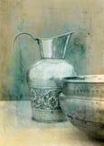 Lavabo y jarra Fotografía de archivo