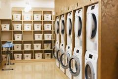 lavadero con los secadores y los secadores fotos de archivo libres de regalías