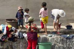 Lavadero de la calle Foto de archivo libre de regalías