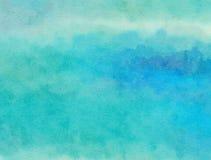 Lavado azul del papel del Watercolour Imagenes de archivo