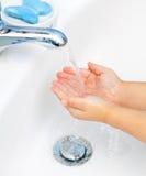 Lavado de la mano Fotos de archivo